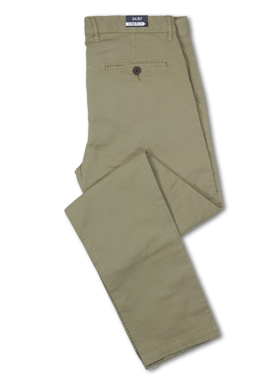 David Smith Khaki Memphis Chino