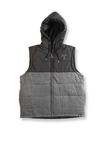 Dickies Charcoal/Black Houston Hooded Puffer Vest
