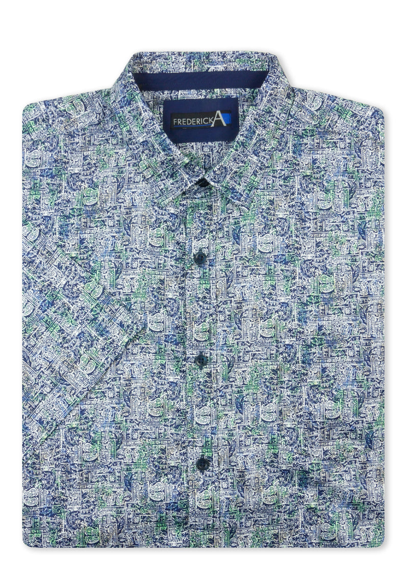 Frederick A Blue 14225C S/S Sports Shirt