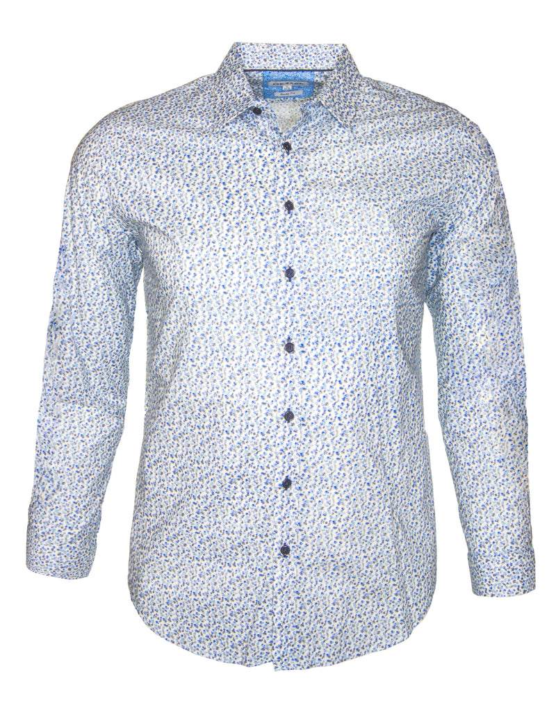 Gerase Blue 6848 Cotton Long Sleeve Shirt