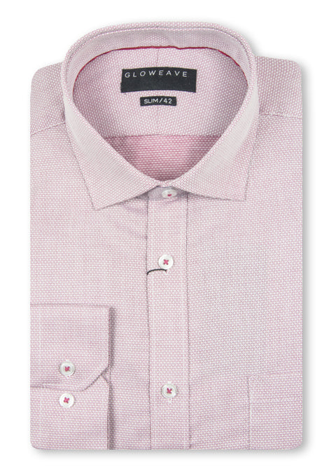 Gloweave Red 1811L Diamond Dobby Slim Fit Shirt