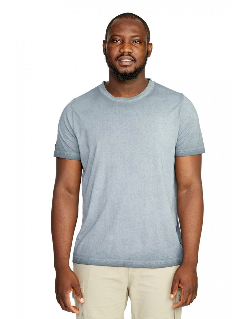 Hammersmith Washed Teal 0H81A3 Elston Crew Tee