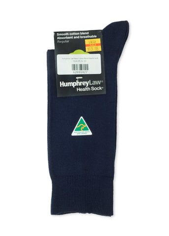 Humphrey Law Navy Cotton Blend Health Sock