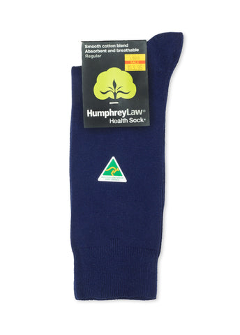 Humphrey Law True Blue Cotton Blend Health Sock