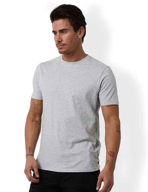 Industrie Light Grey Marle MTE23394 Basic Crew Tee