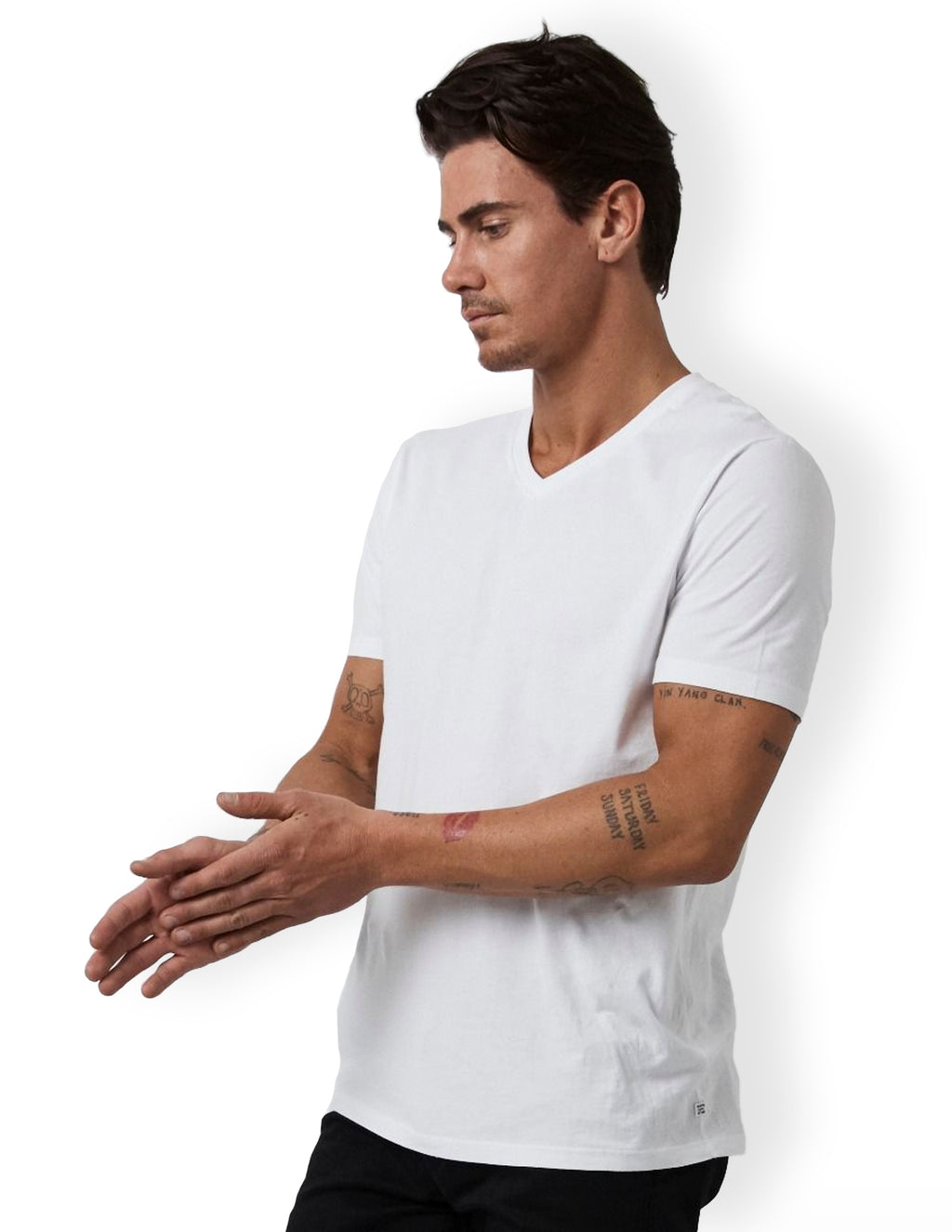 Basic Vee Neck Tee