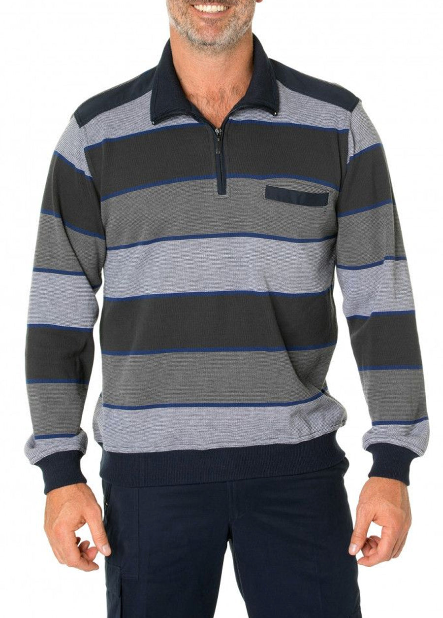 Jax French Rib Half Zip
