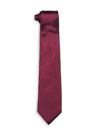 Jean Mercier Extra Long Burgundy Tie