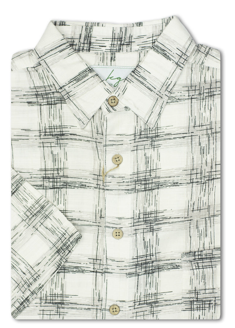 Kingston Grange Sketch Check Bamboo Shirt
