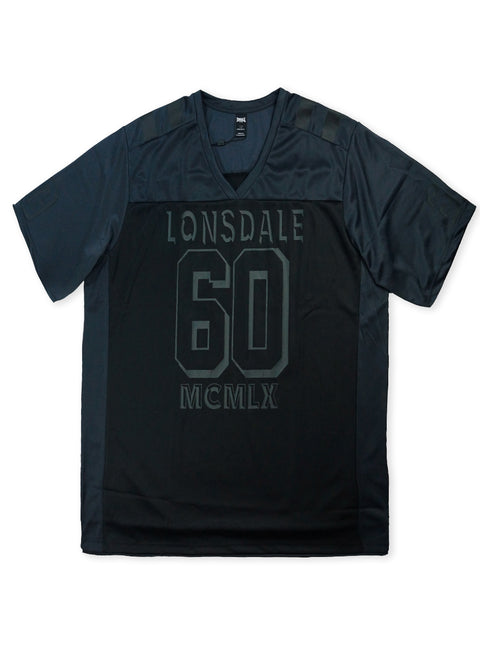 Lonsdale Black/Slate Axel Short Sleeve V-Neck Tee