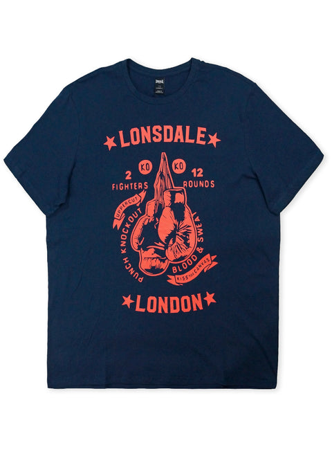 Lonsdale Navy Tucker Short Sleeve Tee