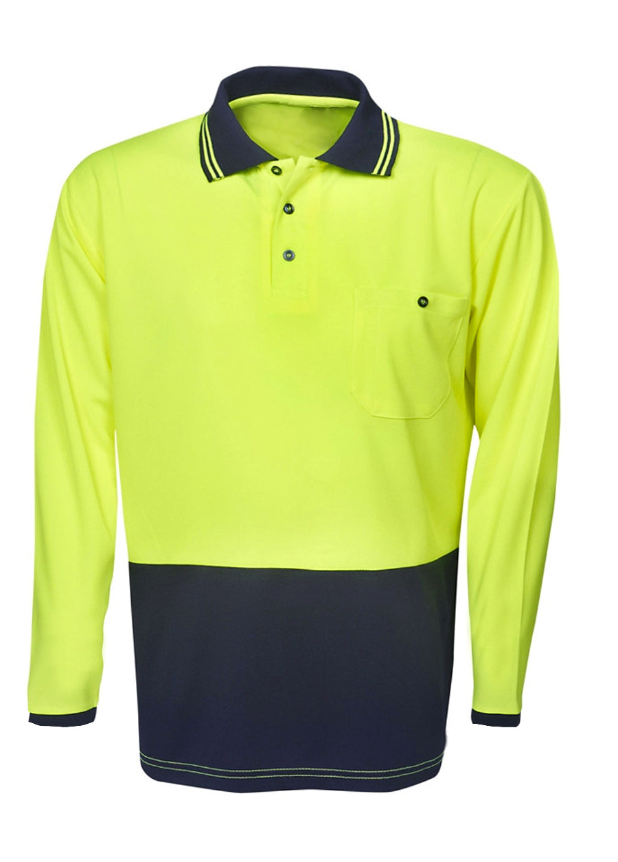 Hi-Vis Long Sleeve Work Polo