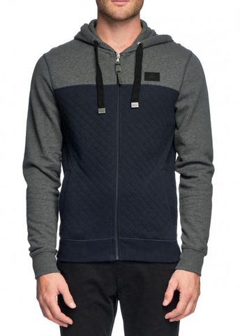 Mossimo Carbon Western Quilted Zip-Thru Hoody