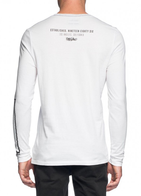 Mossimo White Terrace Long Sleeve Tee