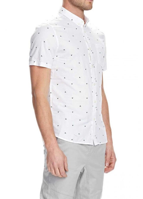 Mossimo White 0M71S1 Stanley Short Sleeve Shirt