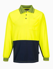 Micro Mesh Long Sleeve Polo