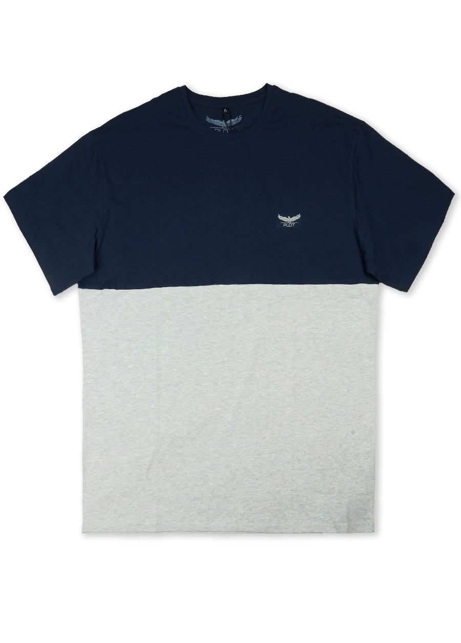 Plot Navy Two Tone S/S Tee