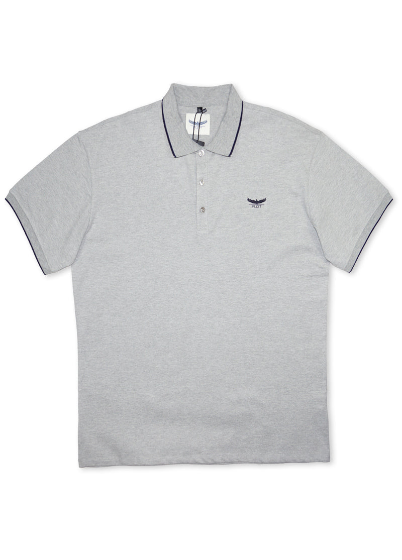 Plot Grey B7P16 Short Sleeve Polo