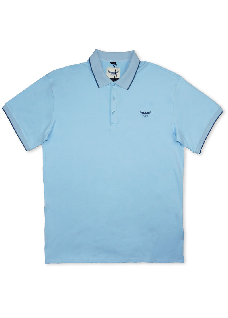 Plot Light Blue B7P16 Short Sleeve Polo