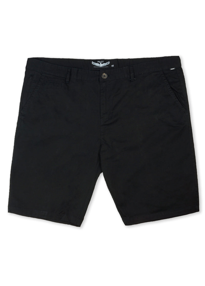Plot Black B61CH302 Chino Short