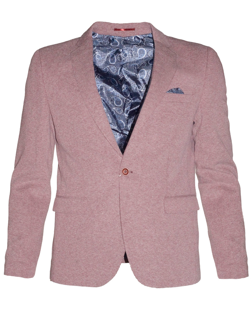 Plot Burgundy James Blazer