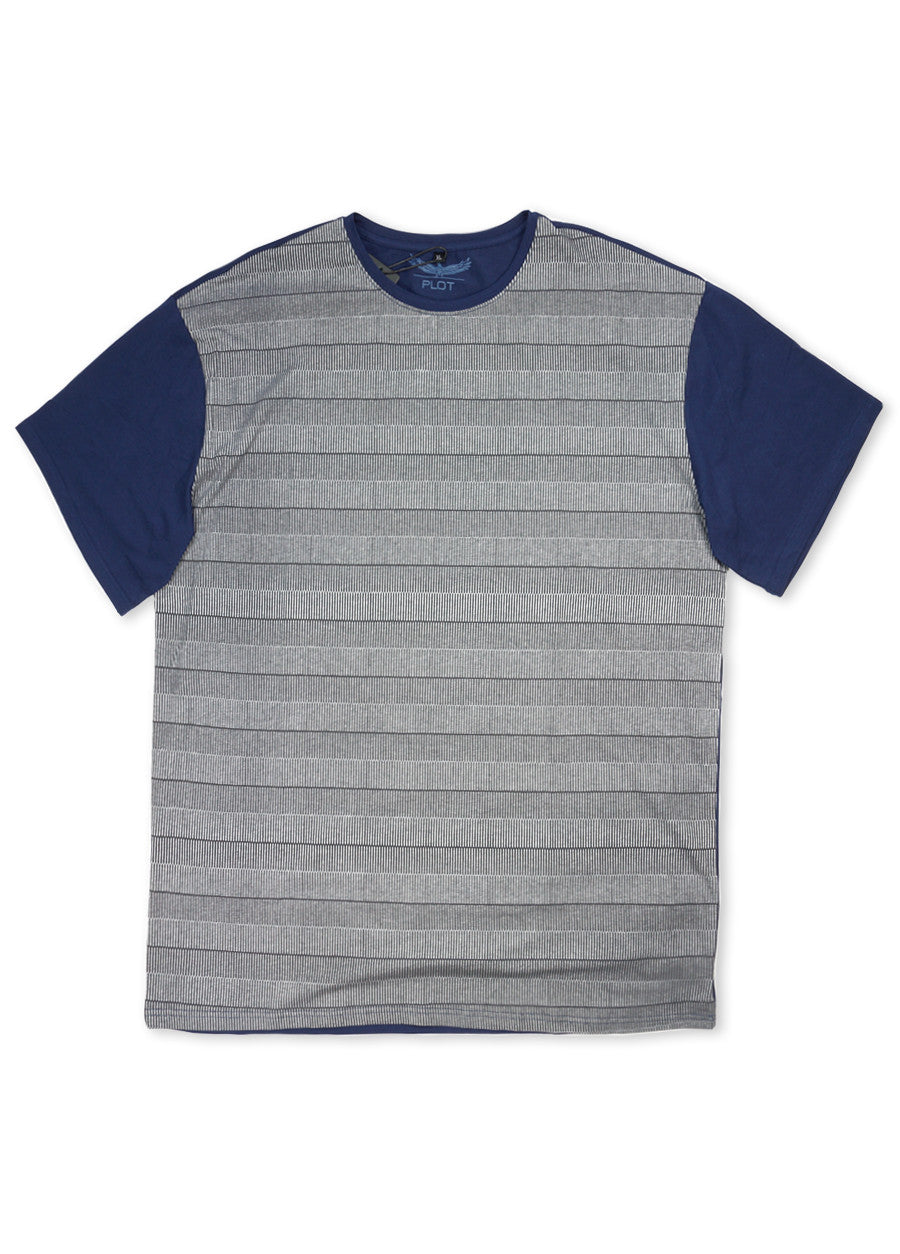 Plot Grey Coupe Short Sleeve Crew Neck Tee