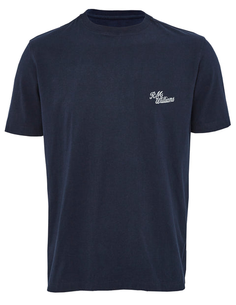 R.M. Williams Navy/Grey Longhorn Tee