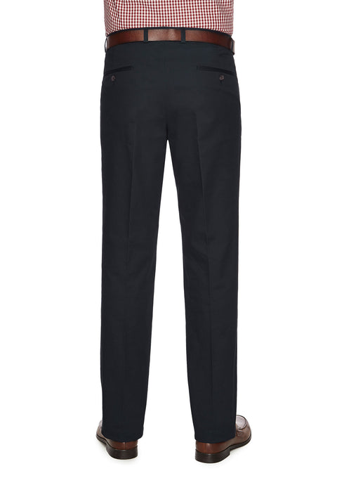 City Club Salt Harbour Navy Slim Fit Casual Pant