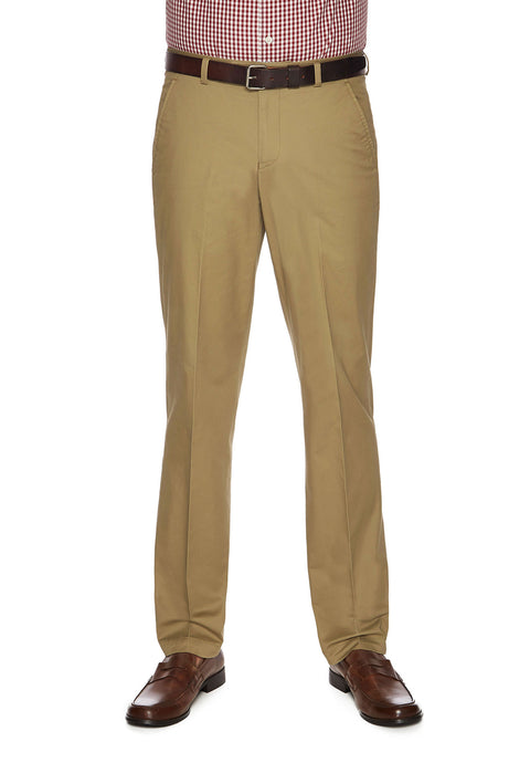 City Club Salt Harbour Tan Slim Fit Casual Pant