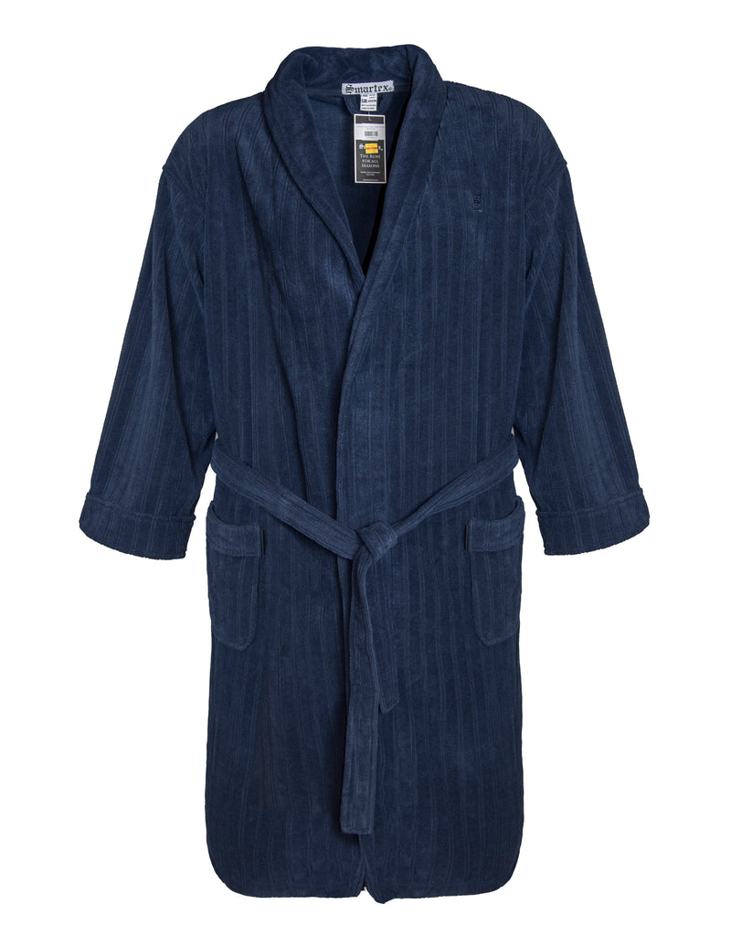 Smartex Navy Polar Fleece Gown