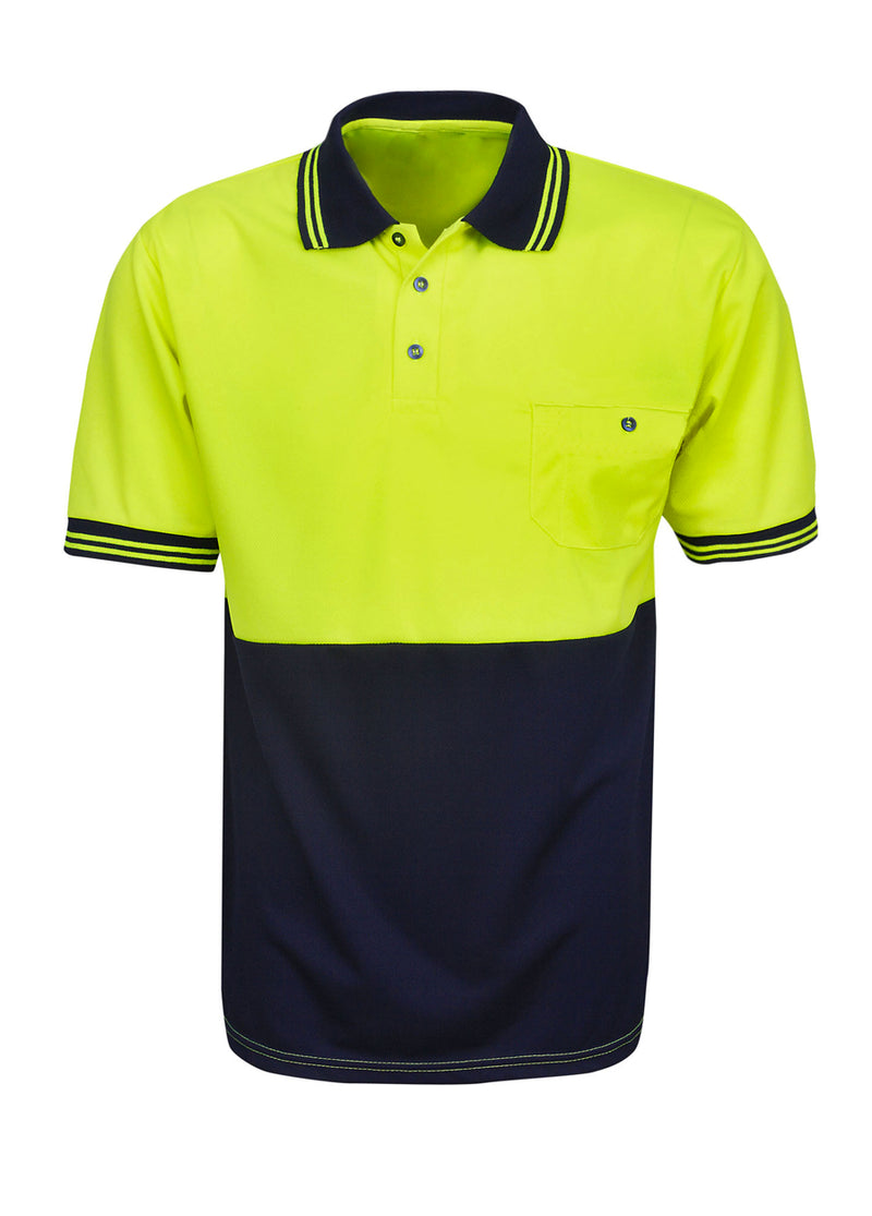 Hi-Vis Short Sleeve Work Polo