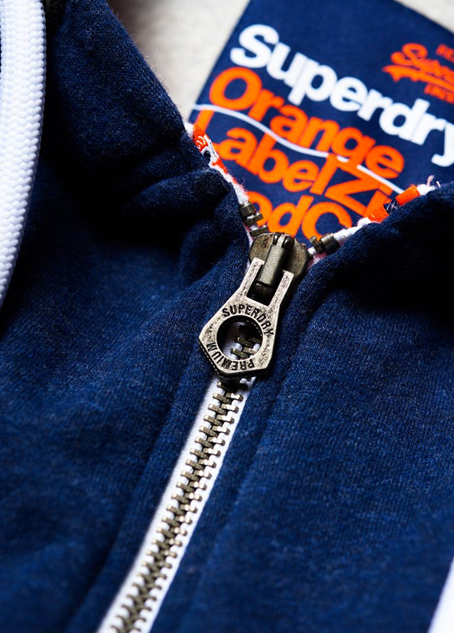 Orange Label Zip Hoodie