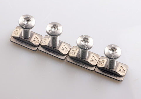 Titanium T Nuts with 316L screws