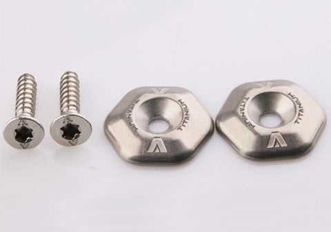 Titanium washers, 316L foot strap screws