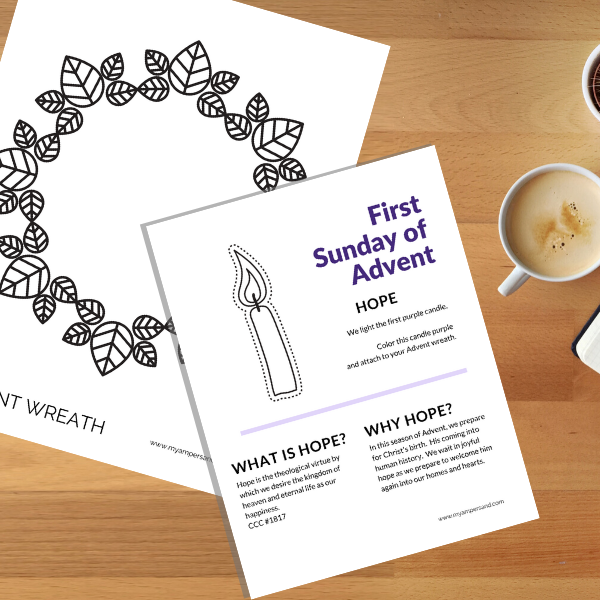 Advent Wreath Activity | Printable