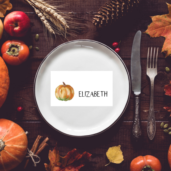 Casual Thanksgiving Place Cards | Printable