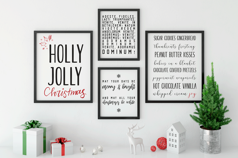 Holly Jolly Christmas Set | Printable