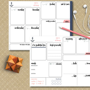 Day and Week Planning Worksheets | Printable