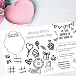 Child's Valentines Place Mat | Printable