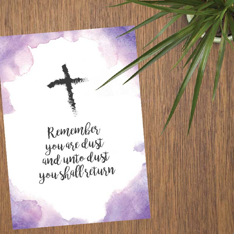Lent 2019 Inspirational Printables
