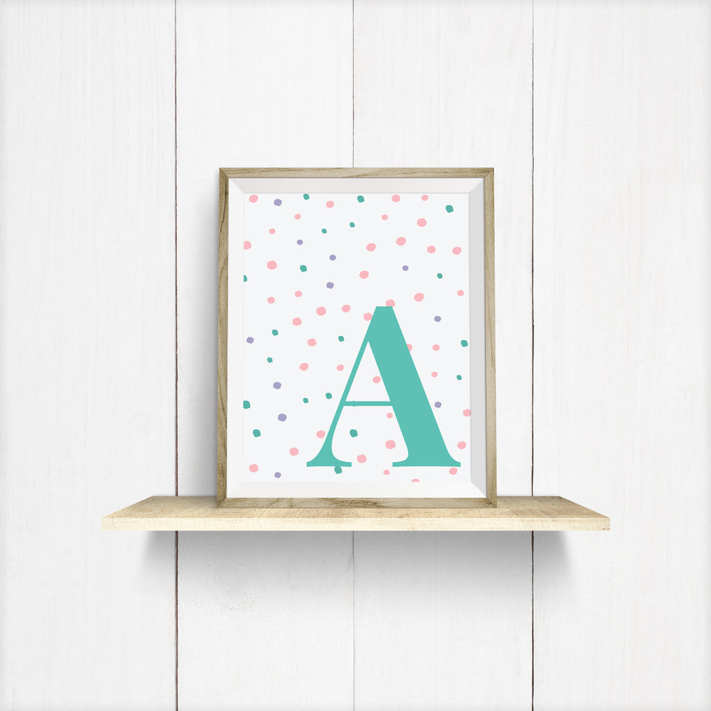 Alphabet Letter Prints For Girls