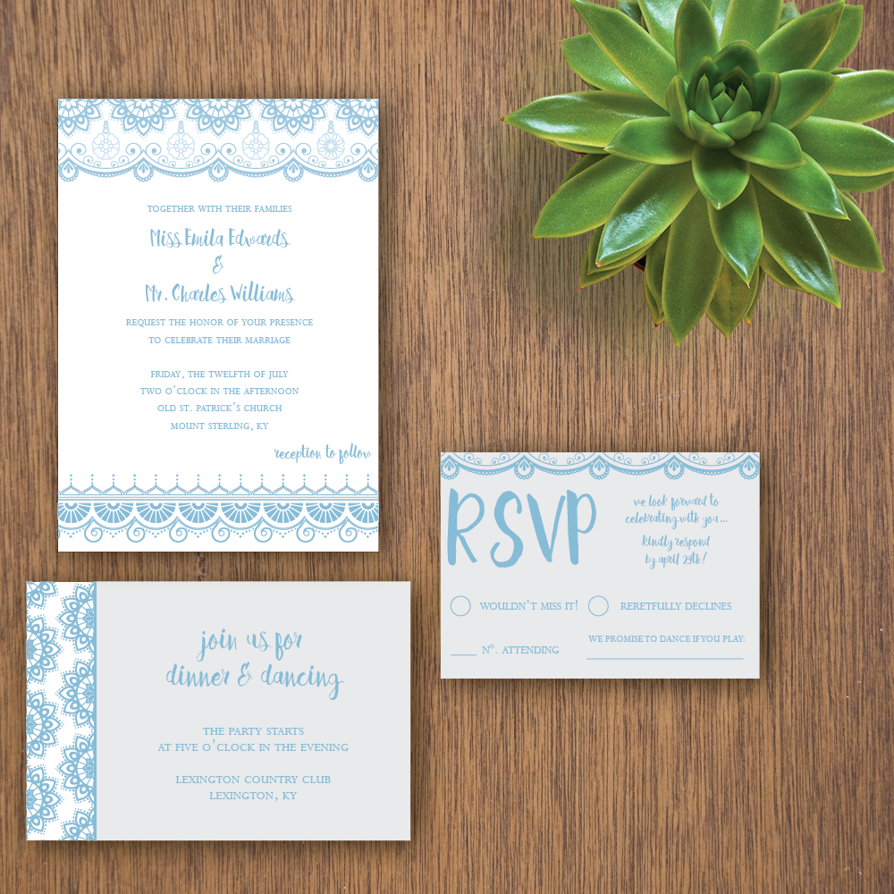 Oceanic Wedding Invitation Suite