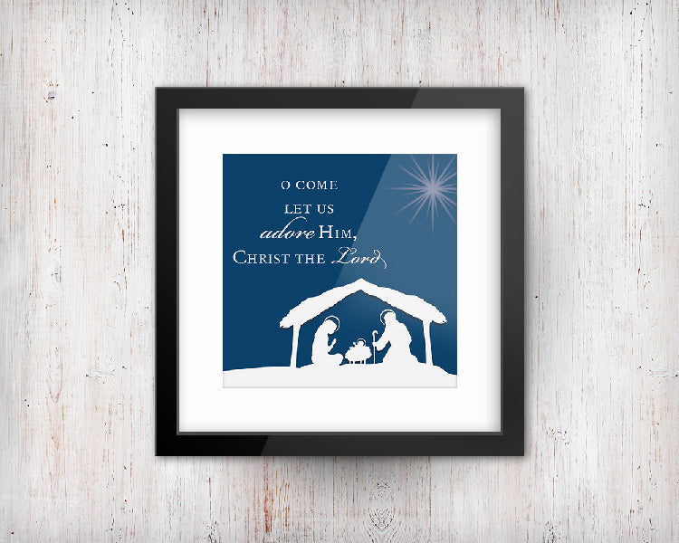 O Come Let Us Adore Him Print | Printable