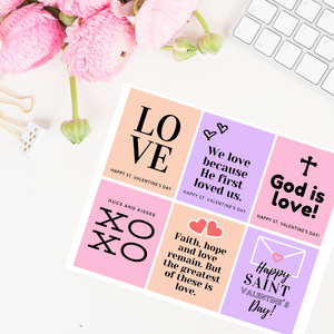 Valentine's Day Printable Cards - Pink