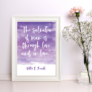 The Salvation of Man Quote - Valentine's Printable