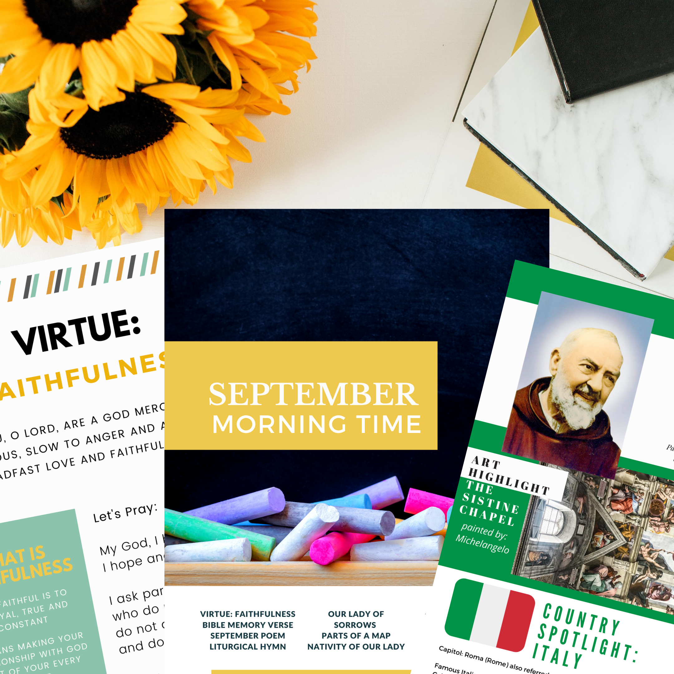 September Morning Time Printable