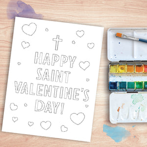 St. Valentine Coloring Page | Printable