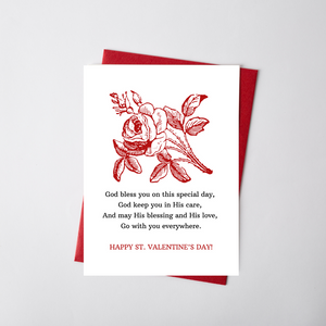 St. Valentine's Day Flat Card - Printable