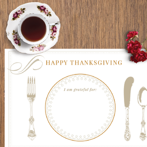 Thanksgiving Place Mat | Printable