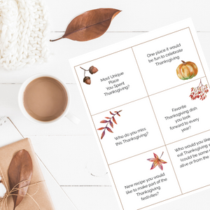 Thanksgiving Conversation Starters | Printable